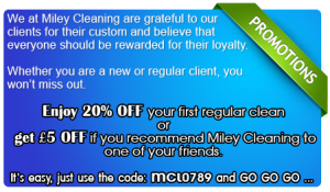 Promotions - End of tenancy cleaning, Regular and Domestic cleaning Wimbledon, New Malden, Surbiton, Morden, South West London